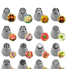 56 Pcs Russian Flower Icing Piping Nozzles Cake Decoration Tips Baking Tools Kit Ebay