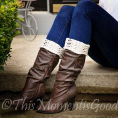 Loom Knit Wristers Reading Mitts Boot Toppers PATTERNS Romantic Victorian Boot Cuffs Reading Mitts PATTERNS. 2 Patterns included.