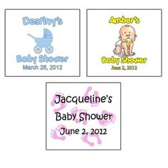 "20 Personalized Clear Matte Baby Shower Labels (1.625"" x 1.8125""). $4.99    More Designs Available!"