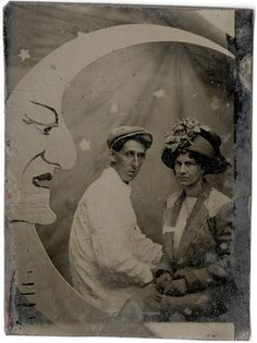 Couple with Grim Faced Moon - Tintype by Photo_History, via Flickr