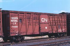 Type: Boxcar Built Date: Location: Milnet, ON Date: August 1981 Photographer: Don Jaworski Canadian National Railway, Art Spaces, Railroad History, Rail Car, August 2nd, Rolling Stock, Amazing Places, The Good Place, Transportation