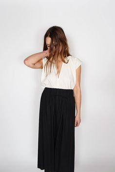 Everyday Top, Silk Noil in Natural