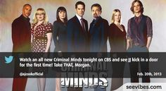 February 20th, 2013: No big buzz last night in Canada, but still Criminal Minds' fans were here to watch and comment the last episode - #Seevibes #TopRetweet #Twitter #CriminalMinds -https://twitter.com/ajcookofficial/status/304323646002982912