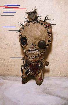 The Love Voodoo Doll - Mandeep Madden Dolls Zombie Dolls, Voodoo Dolls, Voodoo Halloween, Halloween Diy, Halloween Ball, Tattoo Voodoo, Creepy Toys, Voodoo Hoodoo, Ugly Dolls