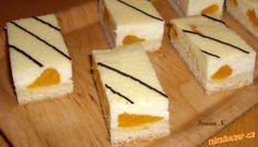 Tvarohové řezy s mandarinkami