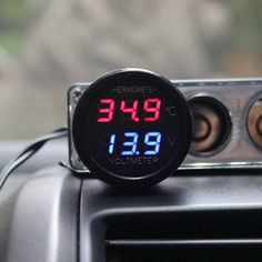 2 In 1 Digital Car Thermometer Voltmeter in the Car 12V/24V Temperature Voltage Detector Meter Monitor with Red Blue LED | Price: US $4.19 | http://www.bestali.com/goto/32330561826/10