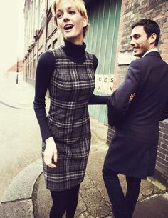 *accompanied by black turtleneck     British Tweed Shift available at bodenusa.com