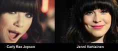 Oletko huomannut, että Spotifyn suosityin Carly Rae Jepsen ja Jenni Vartiainen ovat sama henkilö?