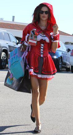 Alessandra Ambrosio Red Riding Hood Halloween Costume