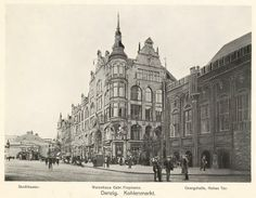 Dom towarowy Freymann (1910) Danzig, Theater, Germany And Prussia, Old Buildings, Krakow, Timeline Photos, Historical Photos, Old Town, Arsenal