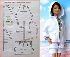 Sewing Barbie Clothes, Barbie Sewing Patterns, Doll Dress Patterns, Sewing Dolls, Clothing Patterns, Diy Clothes, Dolls Dolls, Girl Dolls, Shirt Patterns