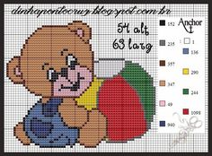 Cross Stitch Baby, Cross Stitch Charts, Cross Stitch Embroidery, Cross Stitch Patterns, Motifs Animal, Kids Patterns, Canvas Crafts, Square Quilt, Baby Quilts