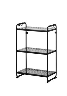 Dorm rooms are small. That's why a smart organizational tool like the MULIG shelving unit is a must.