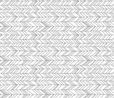 Featherland White Rotated fabric by leanne on Spoonflower - custom fabric.... Use on the front of the ikea dresser drawers with wood trim outline and stained sides...new drawer pulled and dipped gold/silver feet