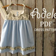 SALE Adele - Twirl Vintage Style Dress PDF Pattern.  Girl's Sewing Pattern. Kids Clothing.  PDF Pattern Sizes 1-8