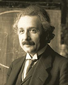 Albert Einstein )14 March 1879 – 18 April 1955) was a German-born theoretical physicist who developed the general theory of relativity, effecting a revolution in physics. For this achievement, Einstein is often regarded as the father of modern physics and the most influential physicist of the 20th century. While best known for his mass–energy equivalence formula E = mc2 (which has been dubbed=.
