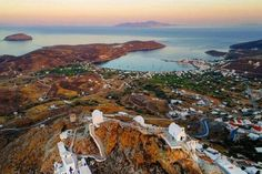 Sunset hour from above in Serifos island (Σέριφος)