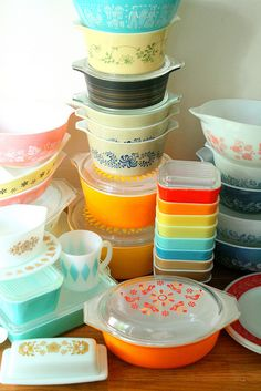 Pyrex by lolie jane, via Flickr -->I want everything in this picture.