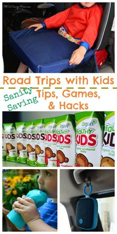 Road trips with Kids, Sanity Saving Tips, Games and Hacks. Traveling with kids and toddlers can be a challenge. Check out these tips, games, hacks, and innovative gear that will make your road trips so much easier!