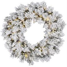 Flocked Snow Ridge Artificial Christmas Wreath Item #A128243 Stunning flocked wreath adds a wintry touch to any holiday decor Features: 224 branch 27715893