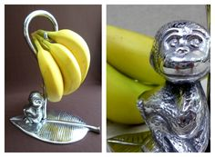 PEWTER  #Pewter #Monkey #Chango #Fruits #Frutas #Banana #Platano #Frutero #Natural #Tropical #Health #Fruiterer