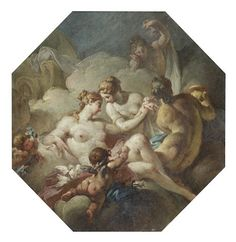 Circle of Claudio Francesco Beaumont (Turin 1694-1766) Venus and her handmaidens in a carved frame