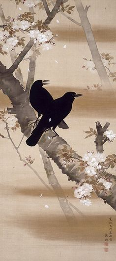 Crows and Cherry Blossoms, 1795 - Komai Genki (1747–1797) Japan