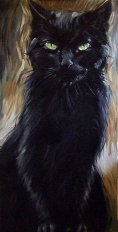 24 x 48 inches, original oil painting on canvas by Dian… BIG black cat painting. 24 x 48 inches, original oil painting on canvas by Diane Irvine Armitage. Black Cat Painting, Oil Painting On Canvas, Canvas Art, Black Cat Drawing, Black Canvas Paintings, Cat Paintings, Painting Trees, Butterfly Painting, Canvas Ideas