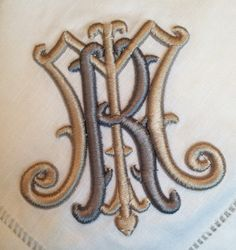 Idea for M monogram Madison Monogram Design, Monogram Fonts, Monogram Initials, Monogram Letters, Embroidery Monogram, Embroidery Fonts, Machine Embroidery Designs, Hand Embroidery, Monogrammed Napkins