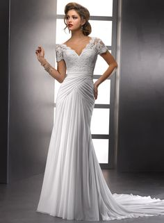Large View of the Lyla Bridal Gown  Not wild about the lace on top but LOVE the rest and the style of the gown