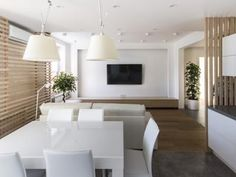 Skandináv nappali zóna - konyha / étkező ötlet, modern stílusban