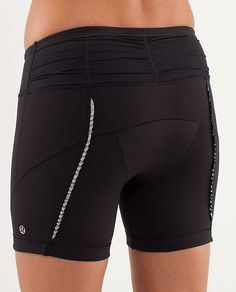 Lululemon made cycling clothes for a while! Wish they'd bring in a new line. These vixen shorts have super minimal padding, those butt ruffles are reflective, and the ruching at the top is actually little pockets. So. Good.
