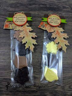 jpp-herbstliches Blätter Goodie / Herbst / Autumn / treat / Stampin' Up! Berlin / Vintage Leaves / Designer Grußelemente / Framelits Lagenweise Kreise  www.janinaspaperpotpourri.de