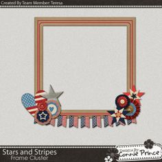 Scrapbooking TammyTags -- TT - Designer - Connie Prince, TT - Item - Frame, TT - Style - Cluster, TT - Theme - Patriotic or July 4th