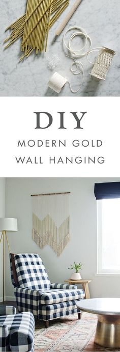 We love the idea of adding this diy modern gold wall hanging to any room of your home this boho decor project would looking stunning hung above your bed