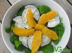 Salade Mâche, Orange & Radis Noir