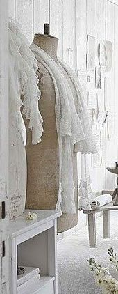 Dress form romantic white room