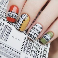 """https://nailmusthave.com/products/cute-tribal-sheet-with-geo-pattern Free Tribal Sheet With Code: """"TribalPlease"""""""