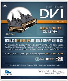 Cabos DVI D Dual Link 24+1 vias da CB Cables. HL-DVI-24+1
