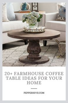 Best selection of ideas for farmhouse coffee table decorations - decor tips for your home. #farmhouse #homedecor #coffeetable Wire Coffee Table, Barnwood Coffee Table, Pedestal Coffee Table, Garden Coffee Table, Coffee Table Wayfair, Cool Coffee Tables, Coffee Table With Storage, Round Coffee Table, Decorating Coffee Tables