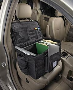 Front Seat Car Organizer and Travel Filing Cabinet for Police and Sales Reps Car Seat Organizer, police, law enforcement, Plain Sight Police Gear, Police Gifts, Car Seat Organizer, Office Organization At Work, Car Office, 3d Modelle, Mobile Office, Duty Gear, Car Storage