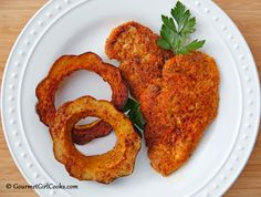 Gourmet Girl Cooks: Easy Breaded Chicken Cutlets & Roasted Acorn Squash Rings