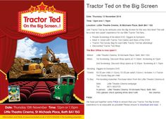 """Diggers and Dumpers"" red carpet event that will feature a meet and greet with its celebs. Little Theatre, James D'arcy, Red Carpet Event, St Michael, Teaching Kids, Tractors, Ted, Product Launch, Celebs"