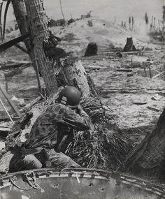Marine rifleman on Tarawa