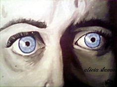 blue eyes; acrylic paint -- Alicia Stamm