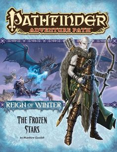 Pathfinder Adventure Path #70: The Frozen Stars (Reign of Winter 4 of 6) (PFRPG) | Book cover and interior art for Pathfinder Roleplaying Game - PFRPG, 3rd Edition, 3E, 3.x, 3.0, 3.5, 3.75, Role Playing Game, RPG, Open Game License, OGL, Paizo Inc. | Create your own roleplaying game books w/ RPG Bard: www.rpgbard.com | Not Trusty Sword art: click artwork for source