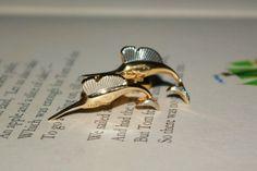 Nice Vintage Signed Swank Goldtone Swordfish Cufflinks FREE SHIPPING by StateofVintage on Etsy