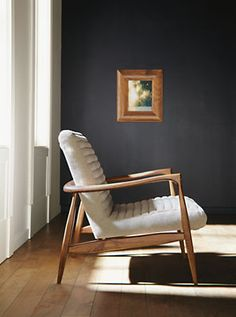 This website has a ton of cool furniture if we need to add more pieces. Great modern/mid century style. Callan Chair & Ottoman in Trip Fabric - Recliners & Lounge Chairs - Living - Room & Board