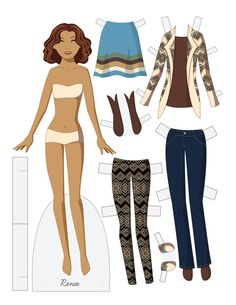 Paper Doll School: Fashion Friday - Renee * 1500 free paper dolls at Arielle Gabriels The International Paper Doll Society also free Asian paper dolls at The China Adventures of Arielle Gabriel * Barbie Paper Dolls, Vintage Paper Dolls, School Fashion, Kids Fashion, Paper Toys, Paper Crafts, Paper Paper, Paper Doll Template, 3d Templates