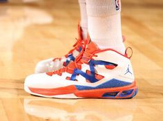 new styles 6fb7d 65e1c Jordan Melo M9 - Knicks Home PE for Opening Night - SneakerNews.com